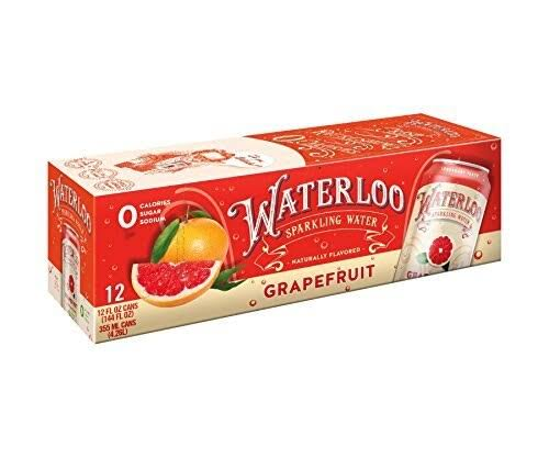 Waterloo Sparkling Water, Grapefruit - 12 pack, 12 fl oz cans