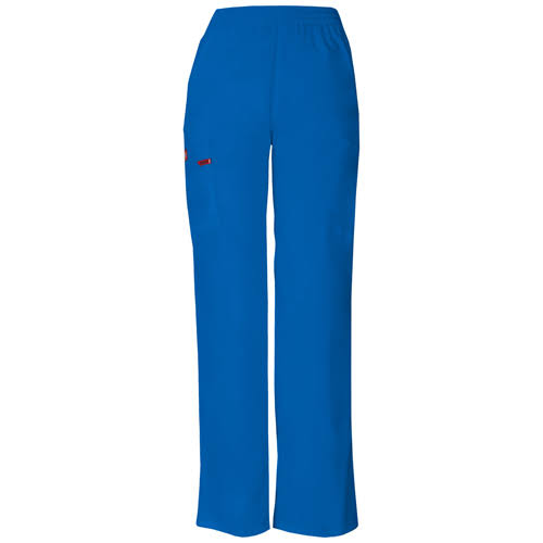 Dickies Women's EDS Signature Scrubs Missy-Fit Pull-On Cargo Pant - Royal, X-Large