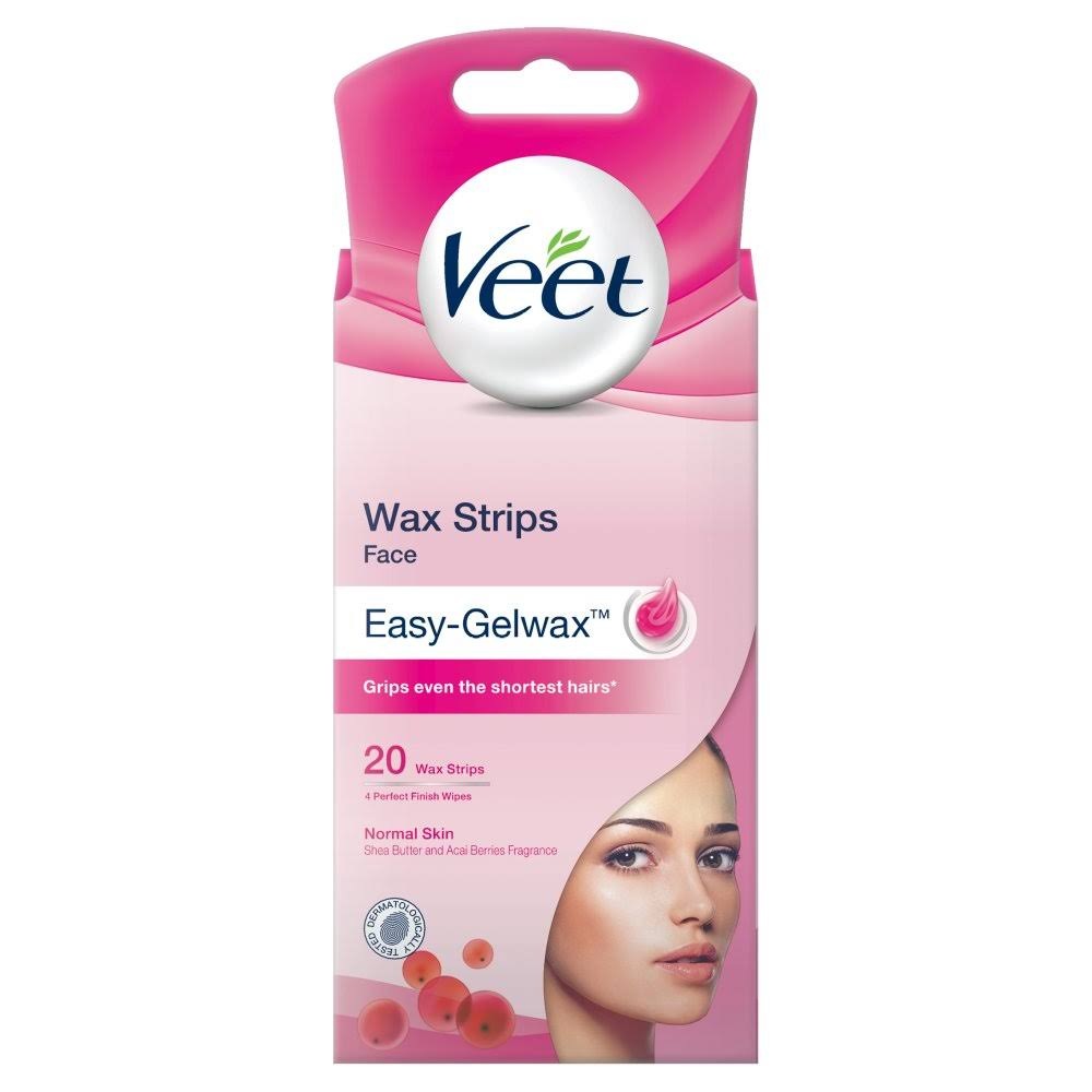 Veet Face Wax Strips - for Normal Skin, 20pk