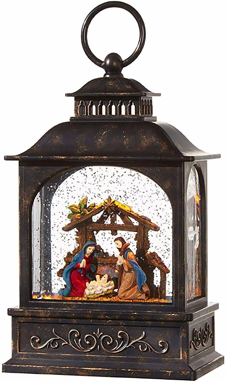 "Raz Imports 8"" Nativity Lighted Water Lantern"