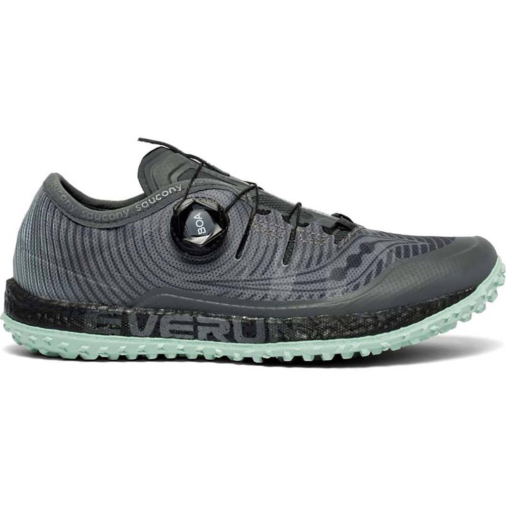 Saucony Women's Switchback ISO Shoe - 8.5 - Grey / Mint