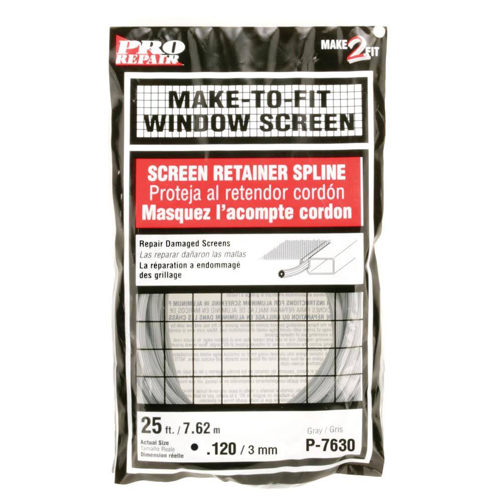 "Prime Line Products P7630 Screen Retainer Spline - 120"", 25', Gray"