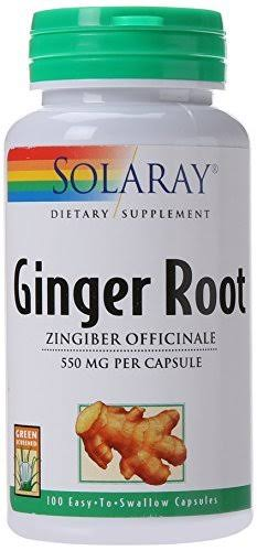 Solaray Ginger Root Supplement - 100 Count
