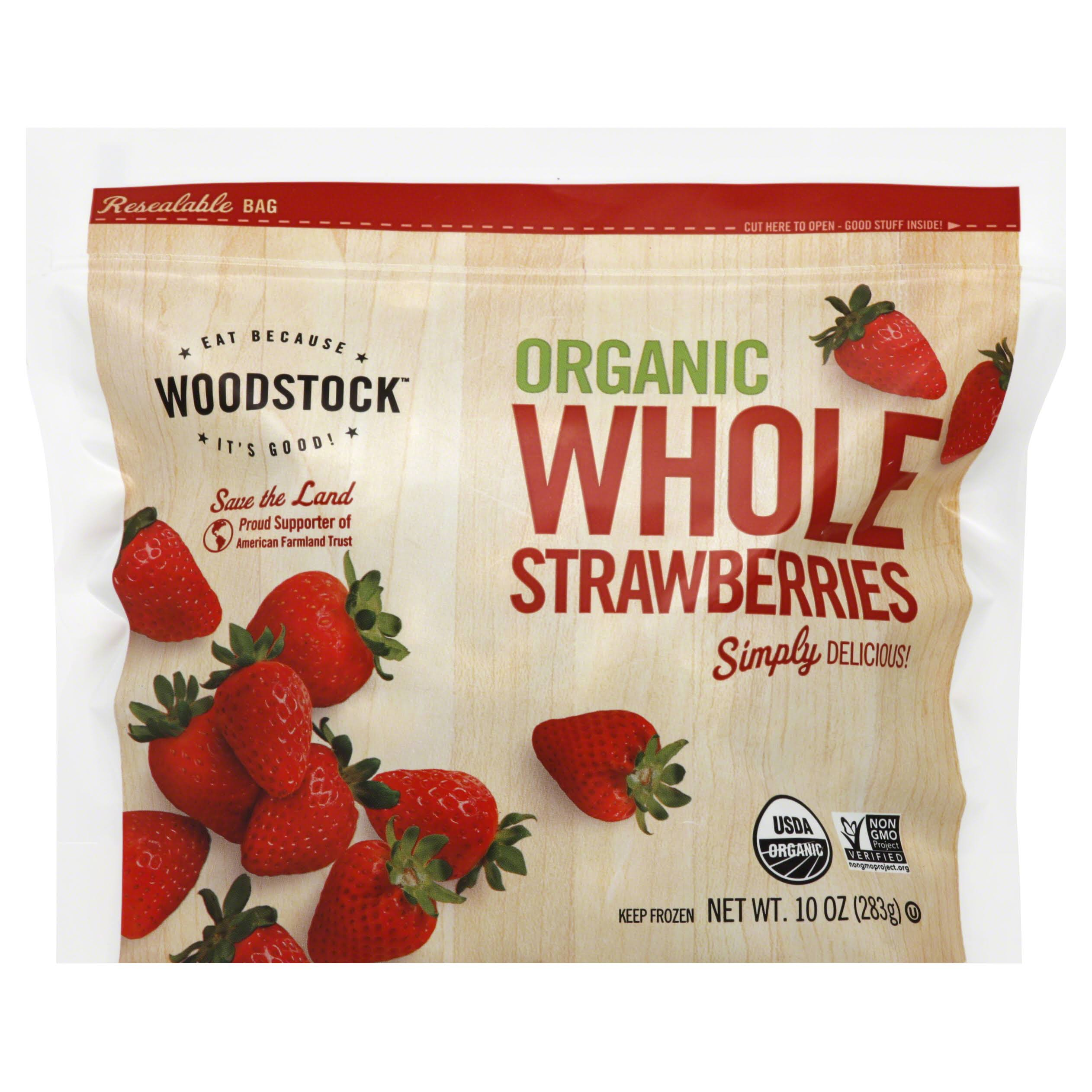Woodstock Strawberries, Whole, Organic - 10 oz