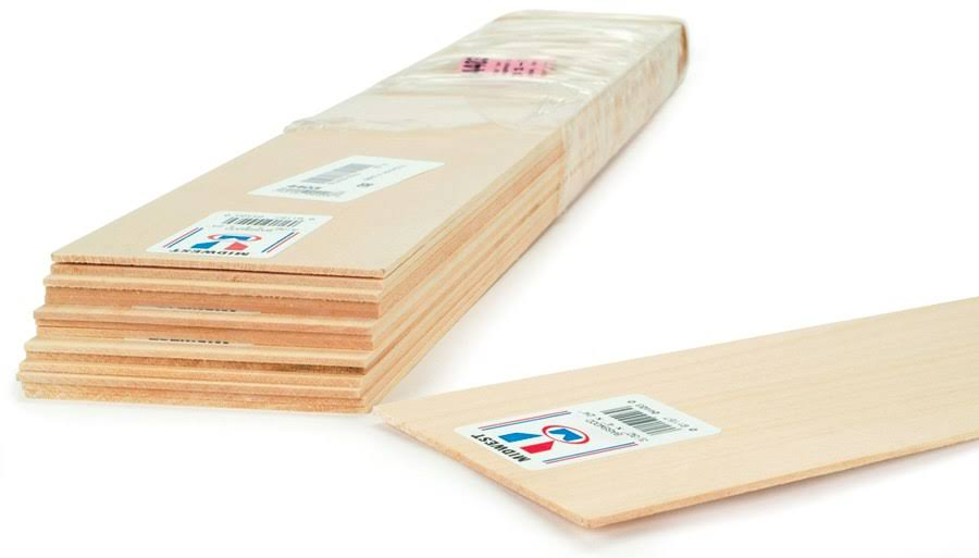 "Midwest Products Basswood Sheets, 1/16"" x 3"" x 24"" - 15 pack"