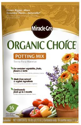 Miracle Gro Organic Choice Potting Mix - 16 quart pouch