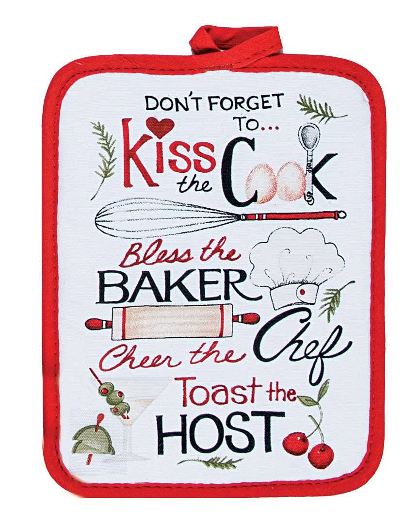 Kay Dee Designs Pot Holder, Kiss The Cook