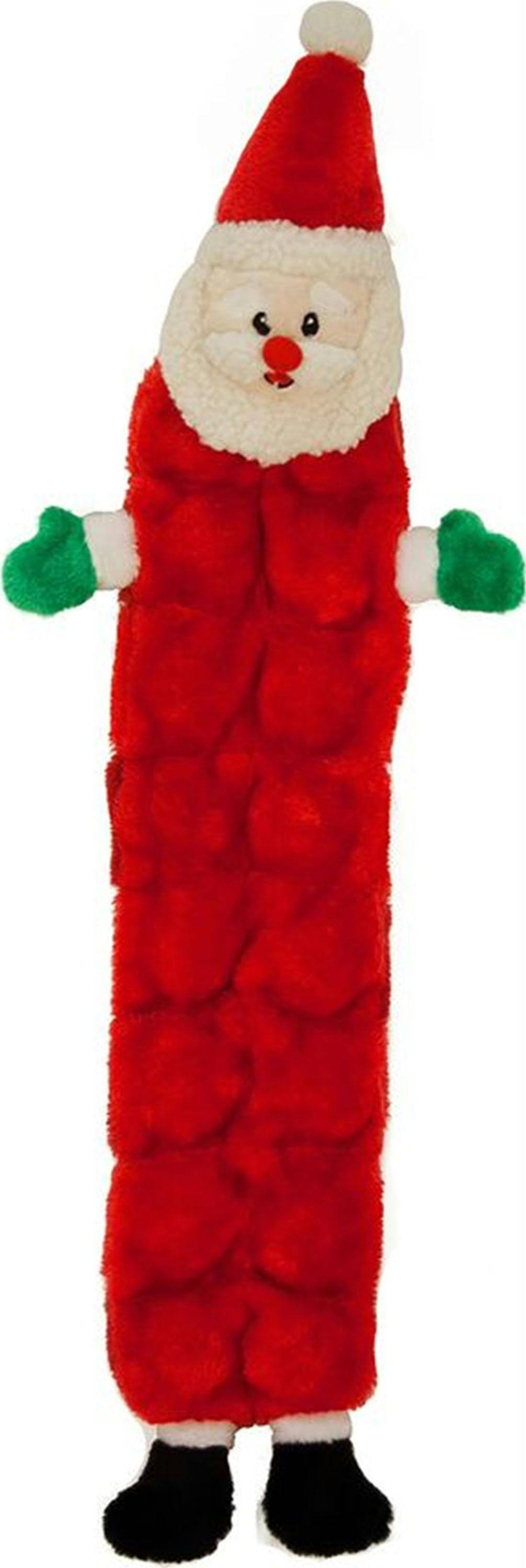 Outward Hound Mat Santa Holiday Plush Squeaky Dog Toy - Large, Red