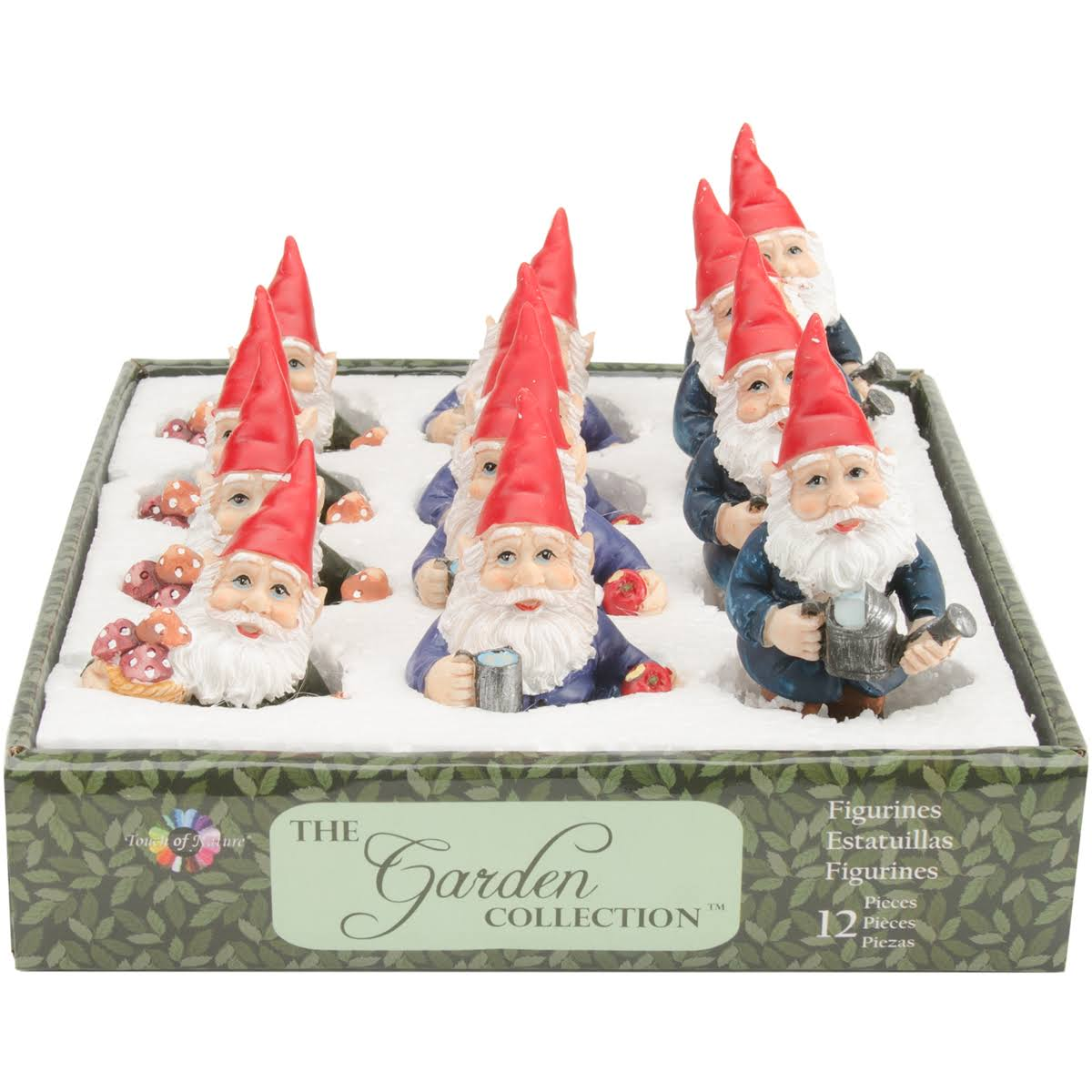 "Garden Gnomes 3"" 12pc Assortment Darks"