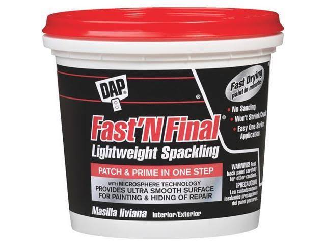 Dap 12143 Fast N Final Interior Exterior Spackle - 1gal