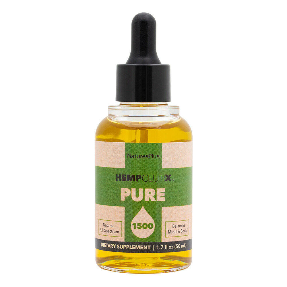 Nature's Plus Hempceutix Pure 1500 Hemp Oil | 30 mg 1.7 fl oz Liquid