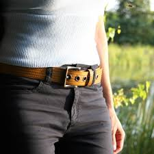 reclaimed fire hose big yellow belt by elvis u0026 kresse