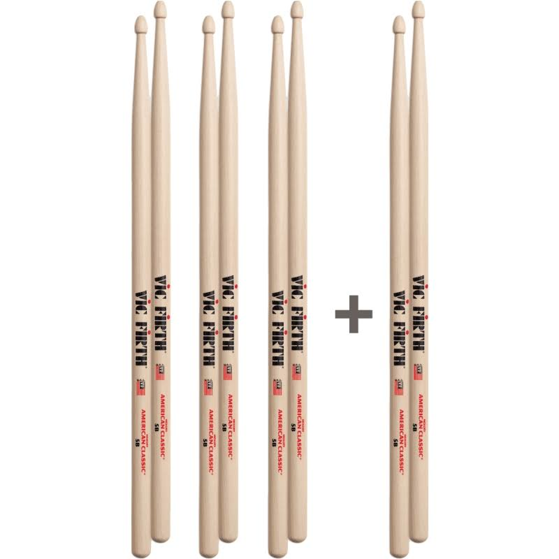 Vic Firth 5B American Classic Wood Tip Drumsticks