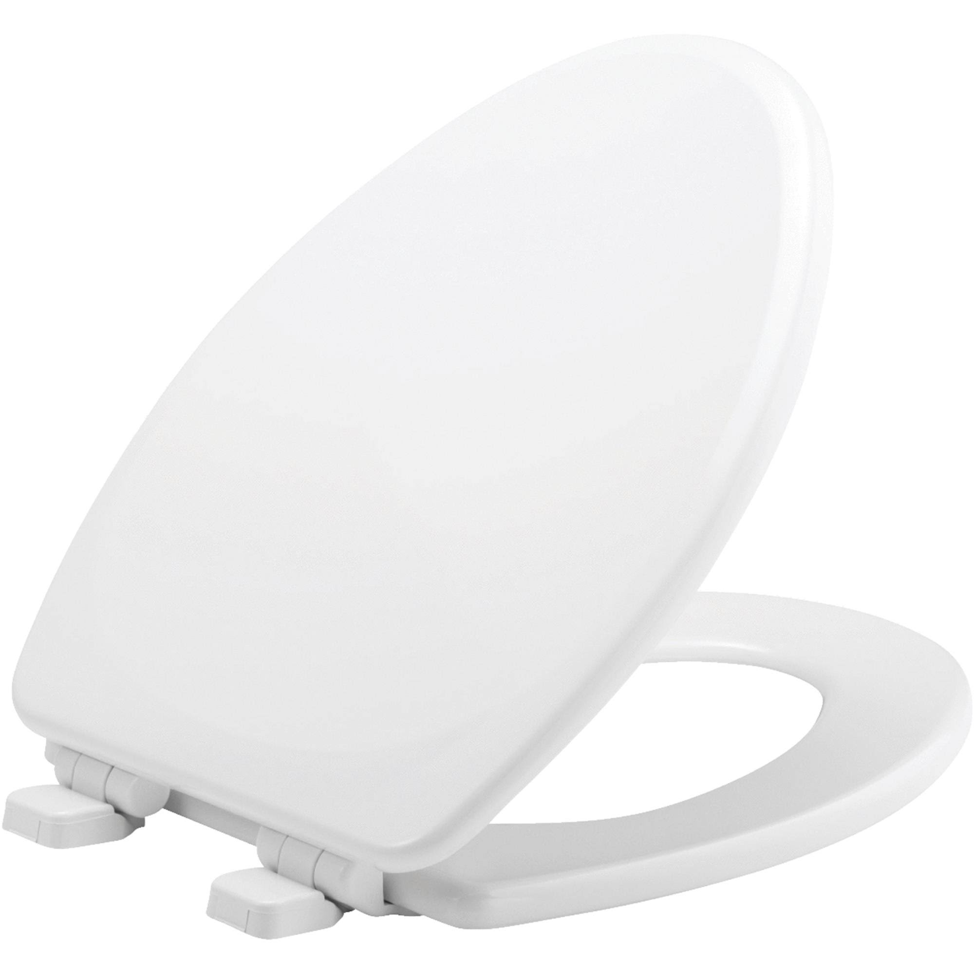 Mayfair Elongated Wood Whisper Close Toilet Seat - White