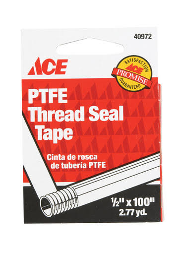 "Ace Pfte Leak Proof Thread Seal Tape - .5"" X 100"""