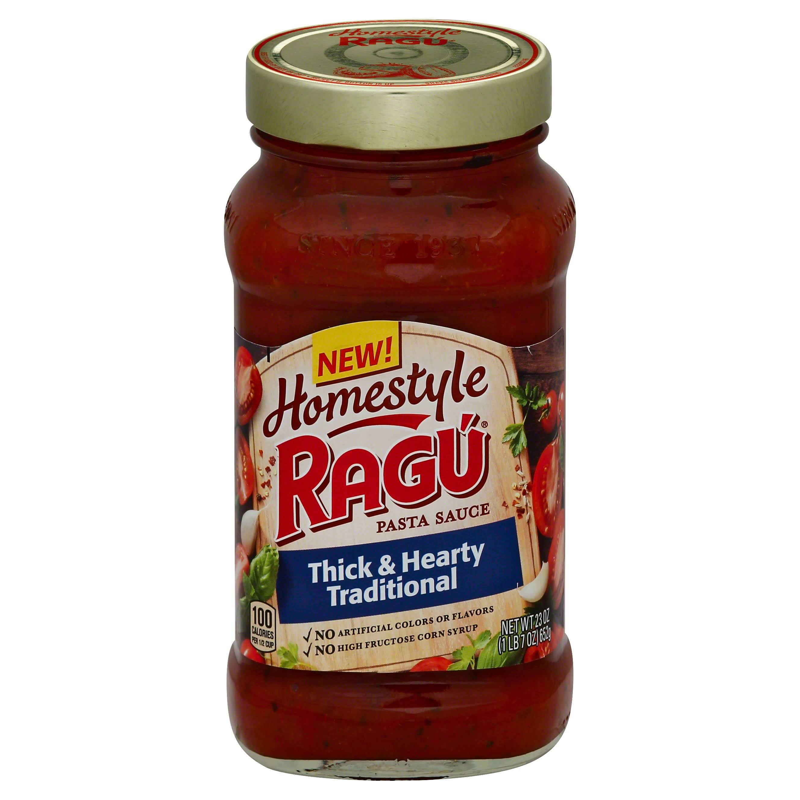 Ragú Homestyle Thick and Hearty Traditional Pasta Sauce - 23oz