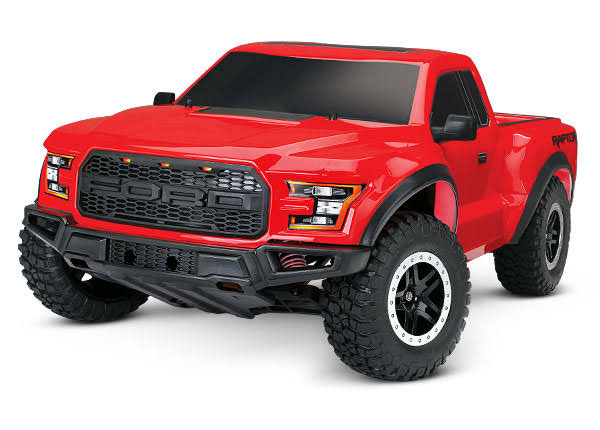 Traxxas 580941t5 Ford Raptor RC Model Vehicle Kit - Red, 1:10 Scale