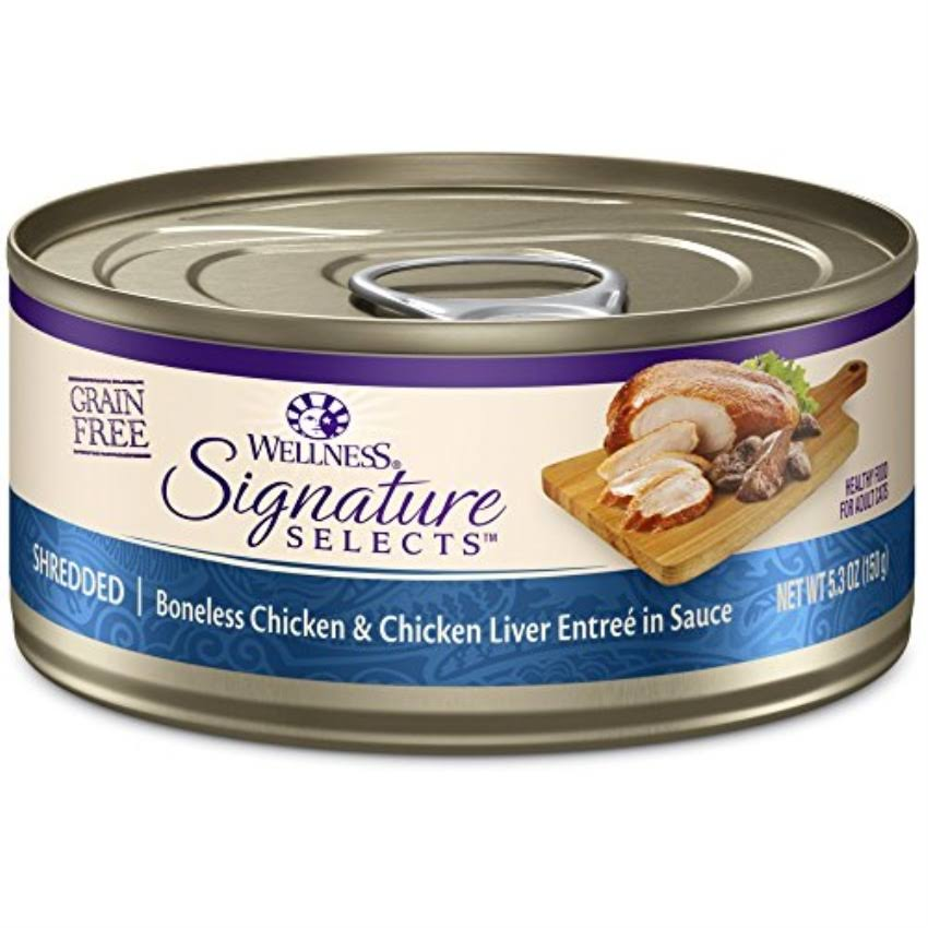 Wellness Signature Selects Natural Canned Grain Free Wet Cat Food - 5.3oz