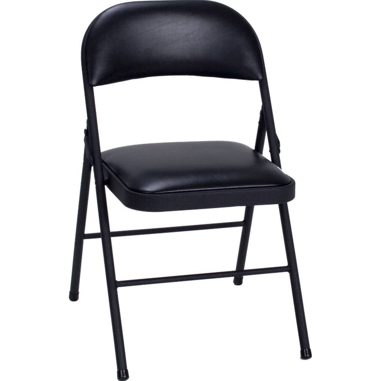 Cosco Vinyl Folding Chair - Black, 4 Pack