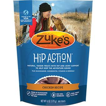 Zuke's Hip Action Natural Dog Treats - Roated Chicken, 6 oz