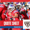 Bills credit in-game adjustments in win over Miami | Quote Sheet