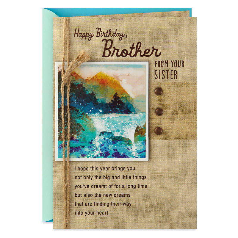 Everything You Wish Birthday Card for Brother from Sister