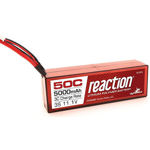 Dynamite DYNB3803D Reaction 50C Lithium Polymer Battery - 11.1V