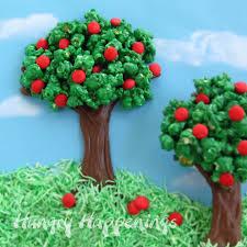 Rice Krispie Christmas Tree Cake by Rice Krispie Treat Apple Tree Hungry Happenings