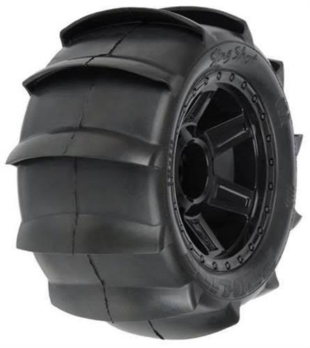 "Pro-Line Sling Shot Sand Tire Mounted F R - 3.8"" , 17mm"