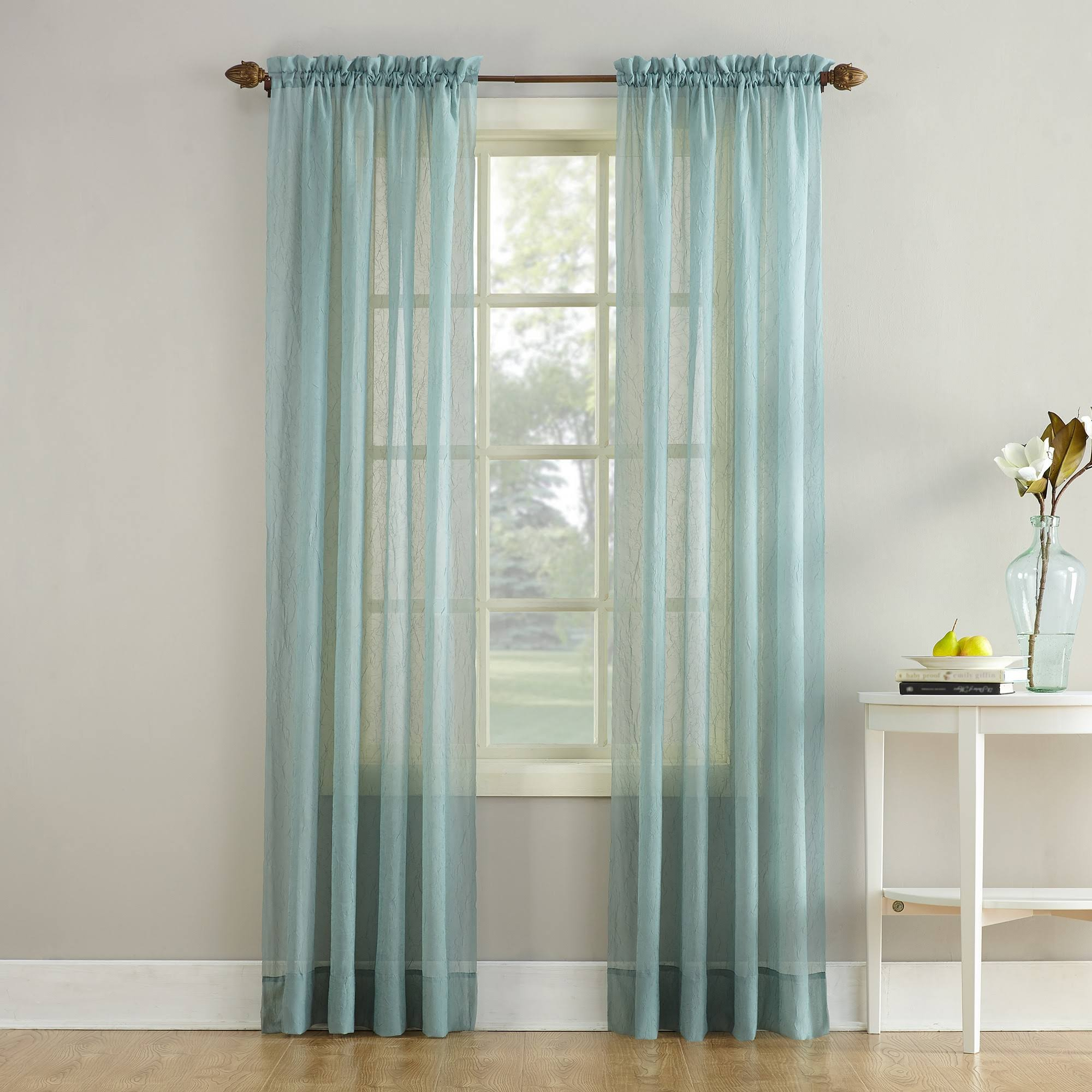 "No. 918 Erica Crush Sheer Voile Curtain Panel - 51""x 84"""