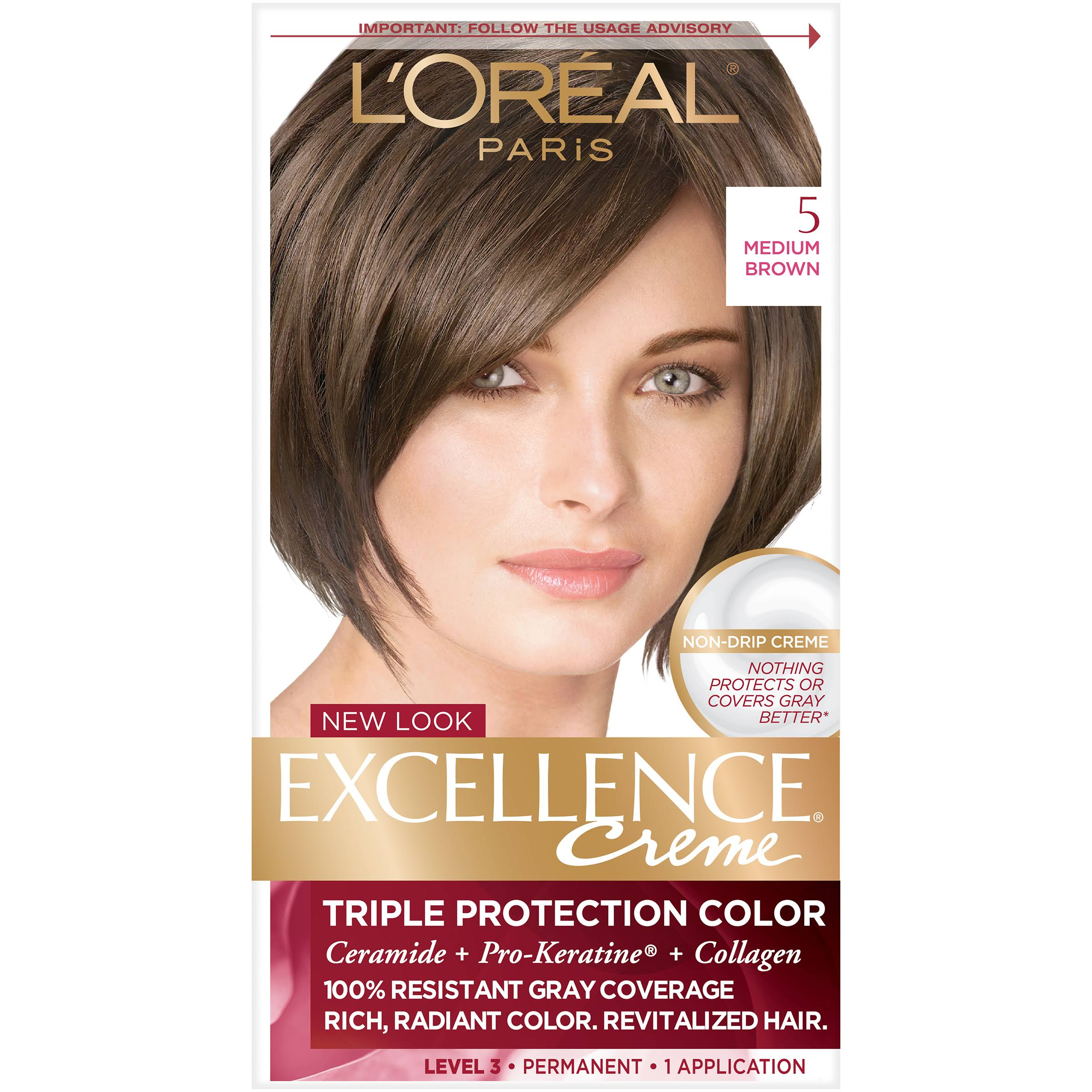L'Oréal Paris Excellence Cream Permanent Hair Color - 5 Medium Brown