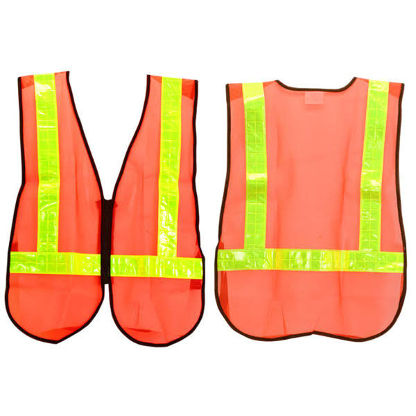 Sunlite Reflective Safety Vest - Orange and Reflective Yellow, One Size
