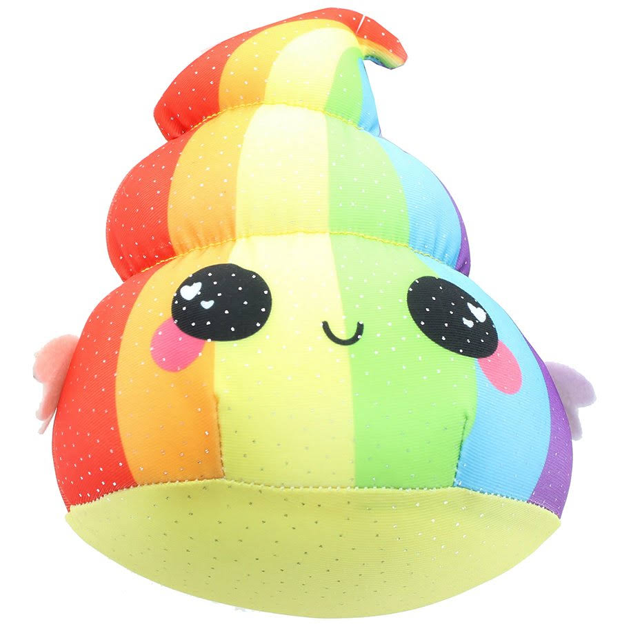 Se7en20 Glitter Galaxy 6-Inch Rainbow Poop Collectible Plush