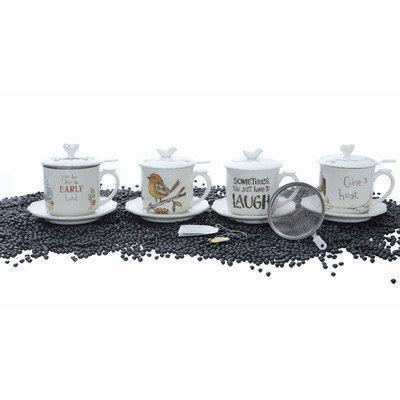 Creative Co-op Gallery 4 Piece Stoneware Tea Set