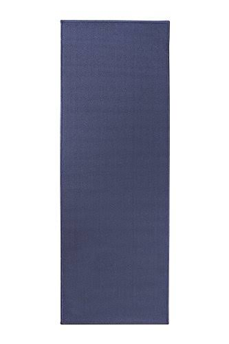 Ritz Accent Door Rug Runner with Non-Slip Latex Backing, 20-inch by 60-Inch Kitchen & Bathroom Runner Rug, Blue