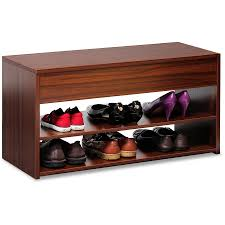 Baxton Shoe Storage Cabinet by Baxton Studio Fernanda Modern And Contemporary 3 Door Oak Brown