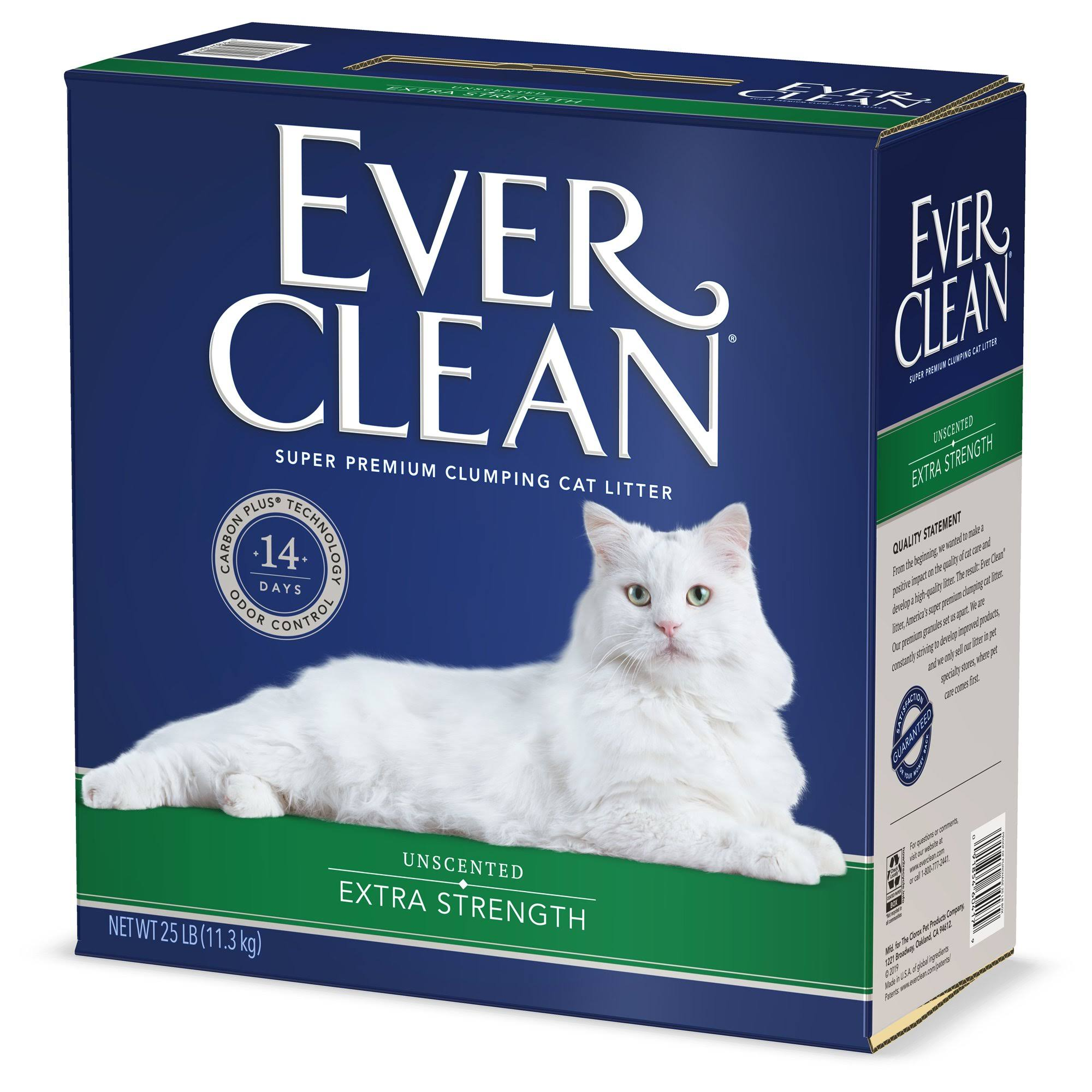 Ever Clean Clumping Cat Litter - Extra Strength, Unscented, 25lb