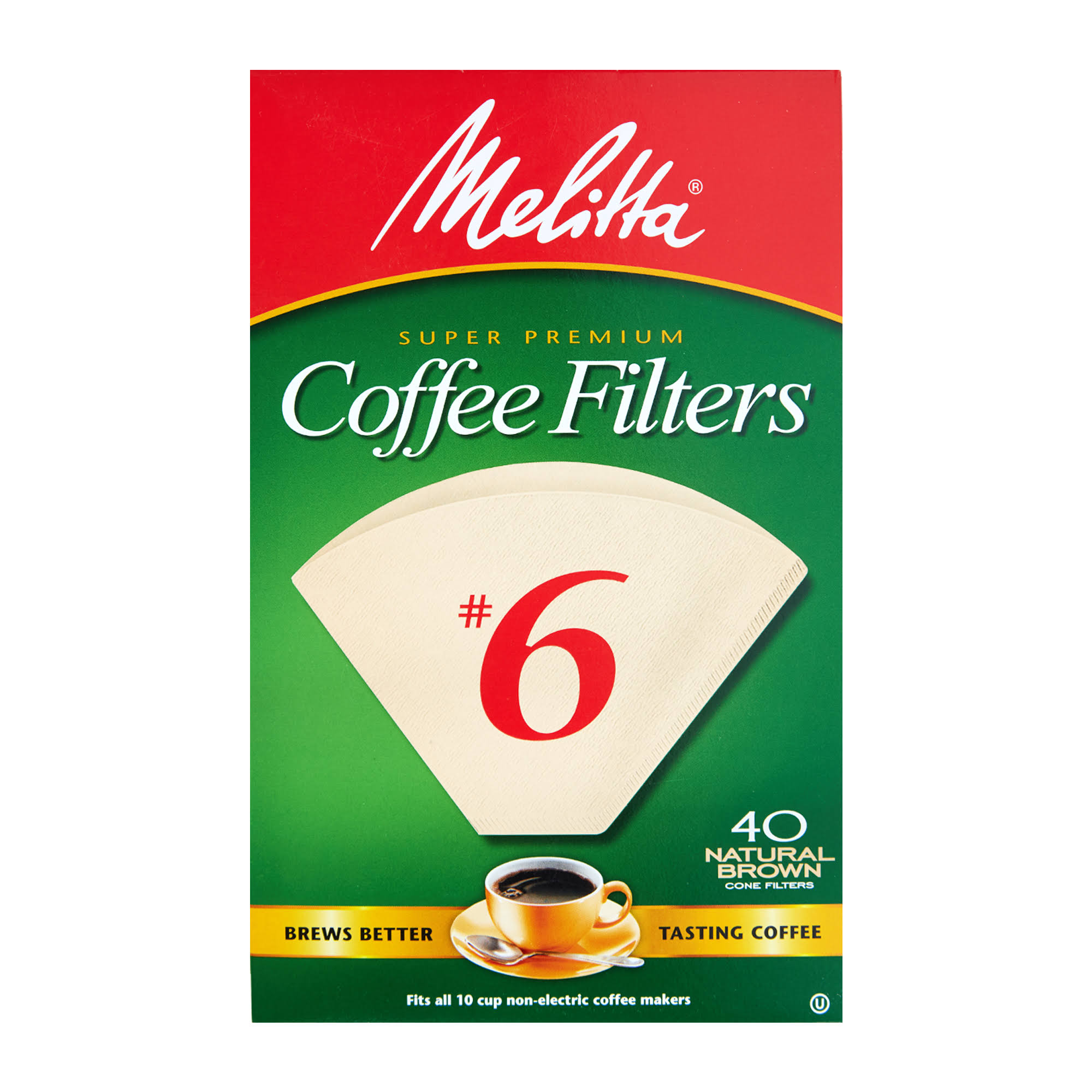 Melitta Cone Coffee Filters - Brown, 40ct