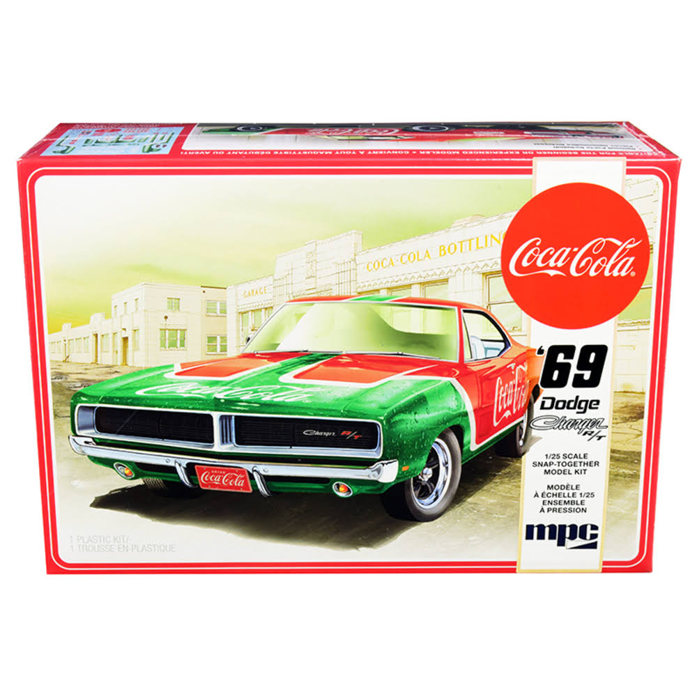 Mpc 1969 Dodge Charger R T Coca Cola Snap Kit Model Car