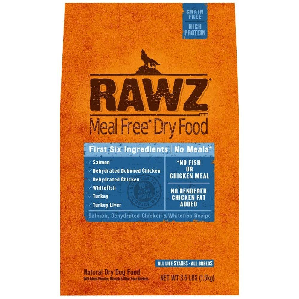 Rawz Meal Free Dry Dog Food - Salmon, Dehydrated Chicken Whitefish Recipe, 3.5lb