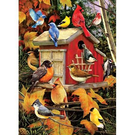 Cobblehill 80100 1000 PC Fall Birds Puzzle, Various