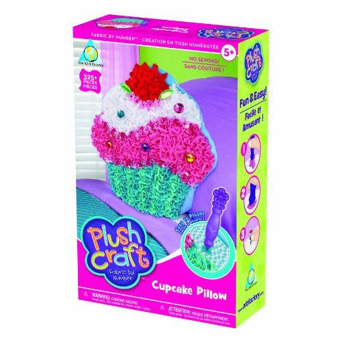 The Orb Factory Plush Craft Cupcake Pillow