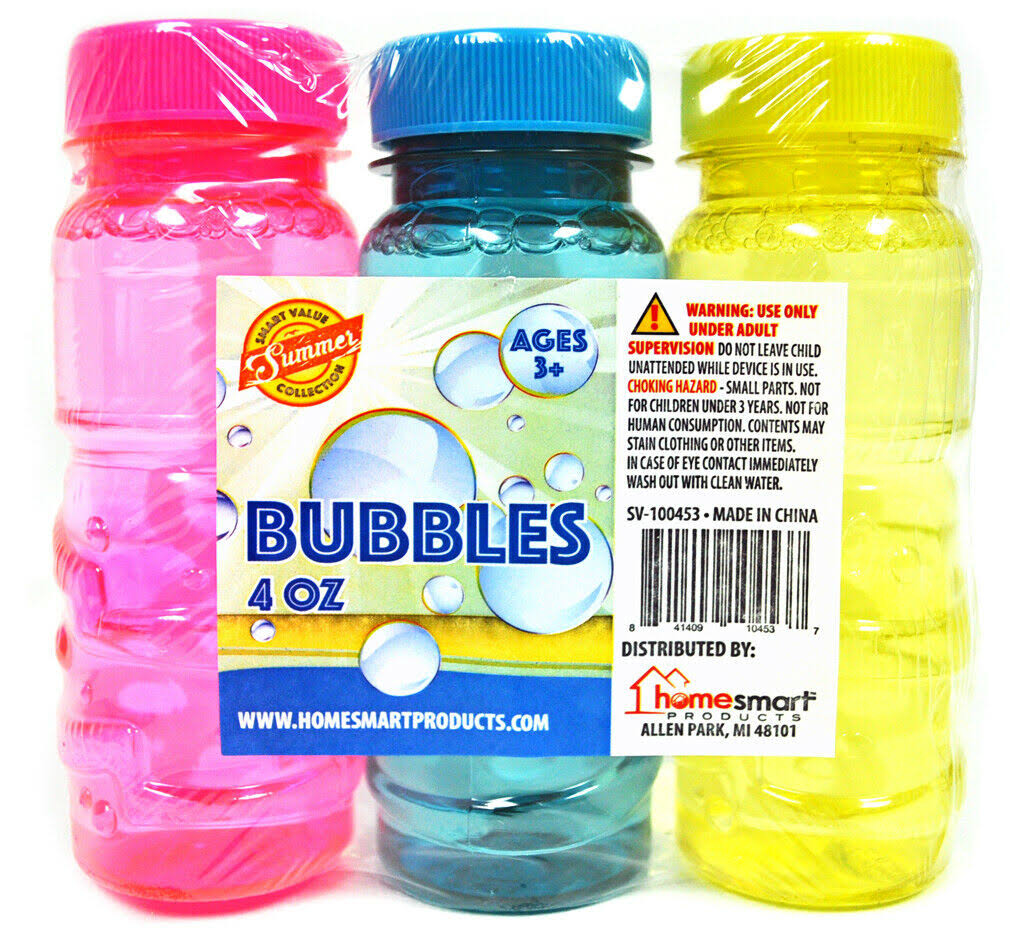 Bubbles Assorted Colors 3 Pack
