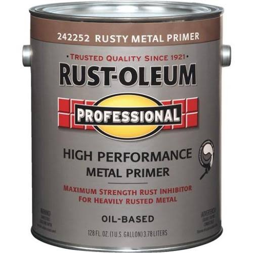 Rust Oleum Professional Flat Red Rusty Metal Primer - 1 Gallon
