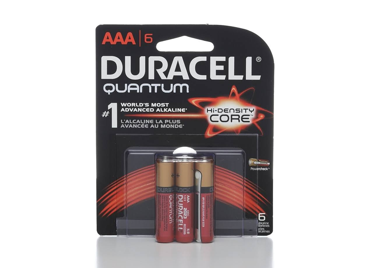 Duracell Powercheck Quantum 1.5V AAA Alkaline Batteries - 6 Pack