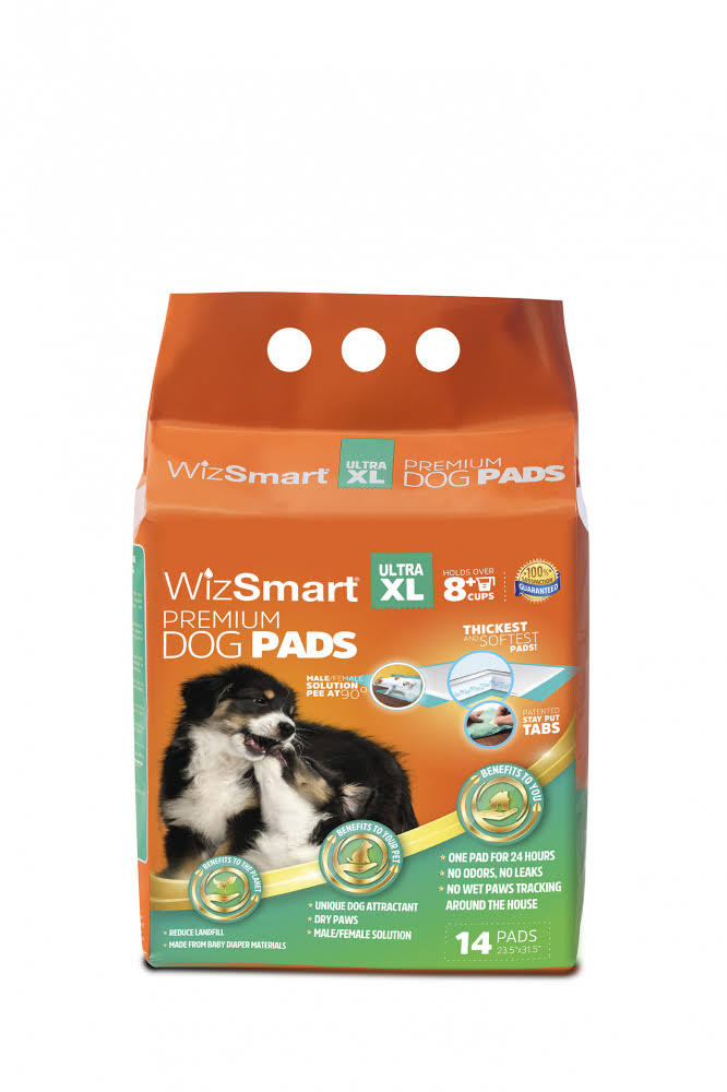 WizSmart Ultra XL All Day Dry Premium Dog Pads - 14 Count