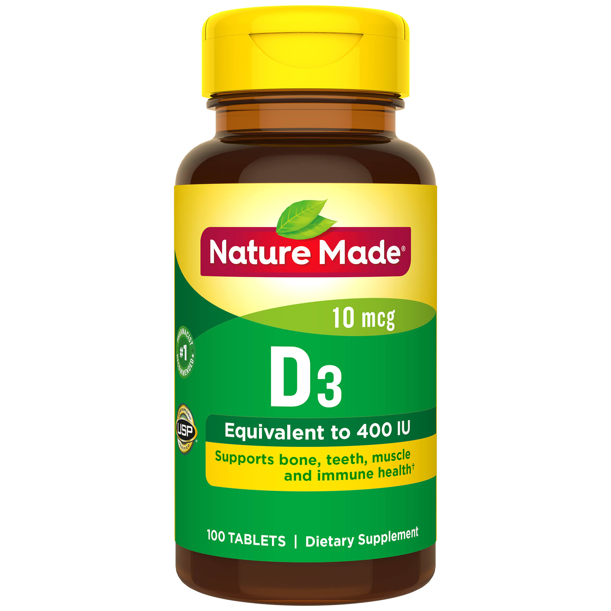 Nature Made Vitamin D3 400 IU Tablets - 100ct