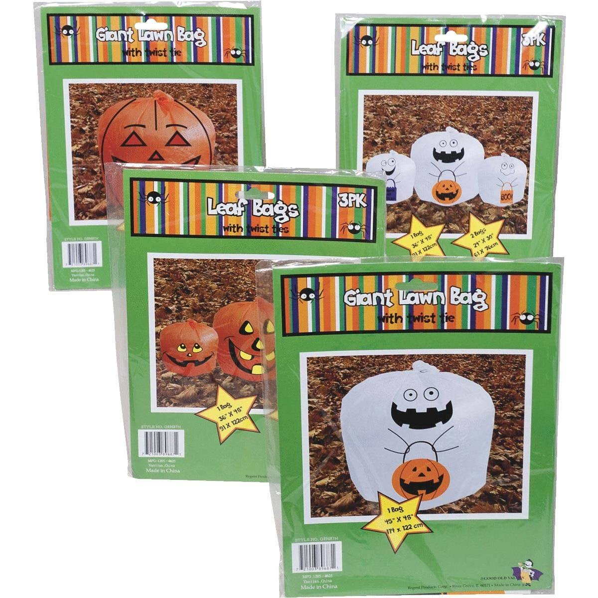 Regent Products Halloween Lawn & Leaf Bag (Pack of 48)
