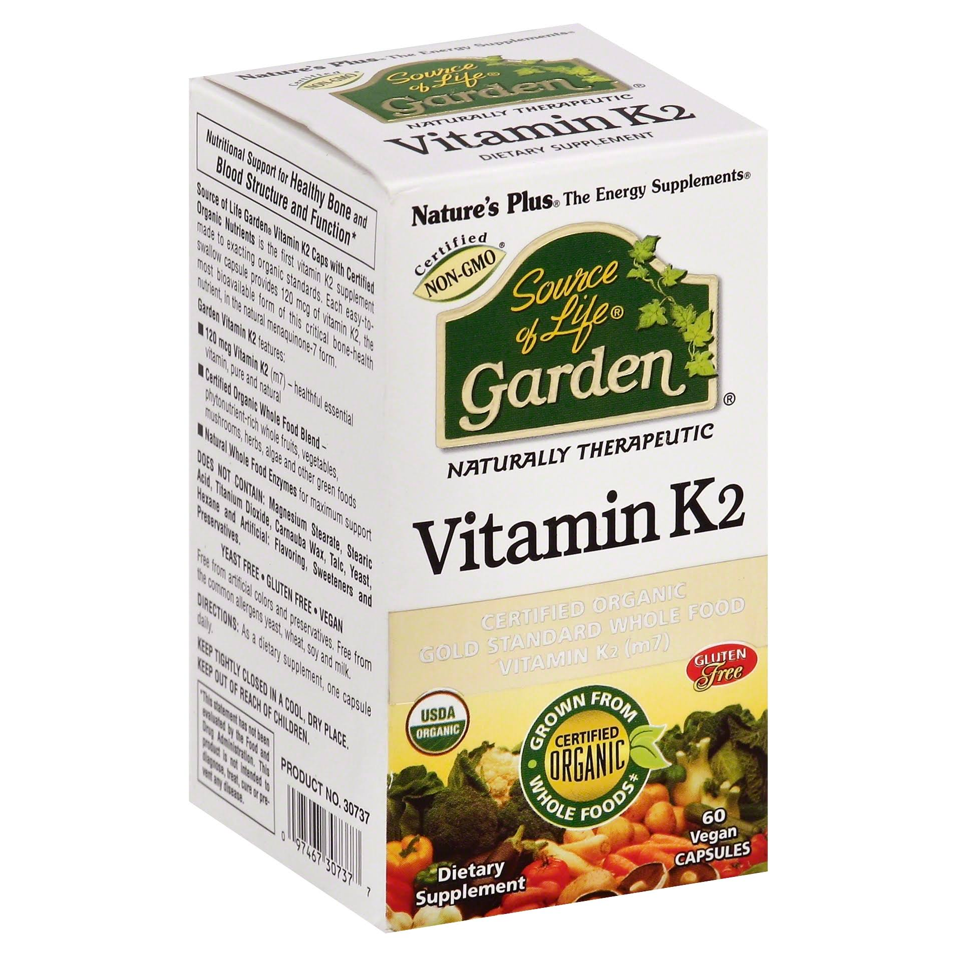 Nature's Plus Source of Life Garden - Vitamin K2 , 60 caps