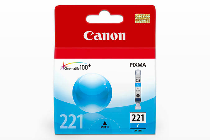 Canon CLI-221 Standard Yield Ink Cartridge - Cyan